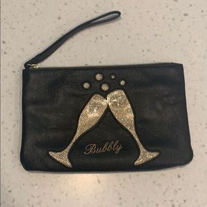 Black and Gold Bubbly Wristlet